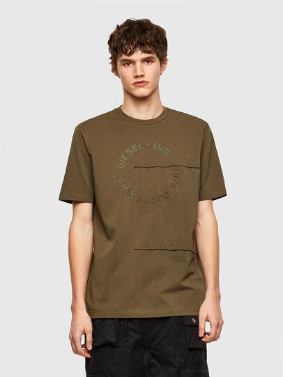 Diesel - T-JUSTEMB, Armeegrün - T-Shirts - Image 1