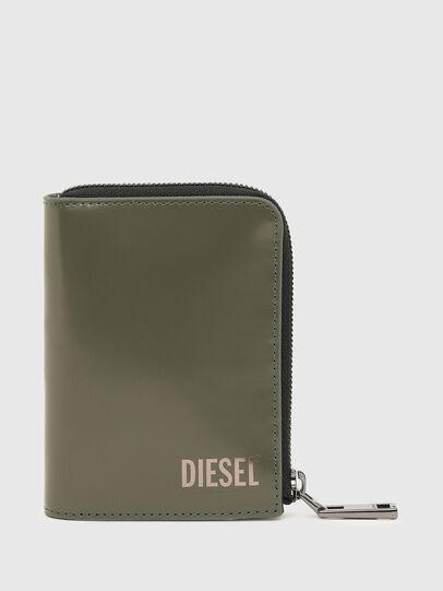 Diesel - L-12 ZIP, Olivgrün - Portemonnaies Zip-Around - Image 1