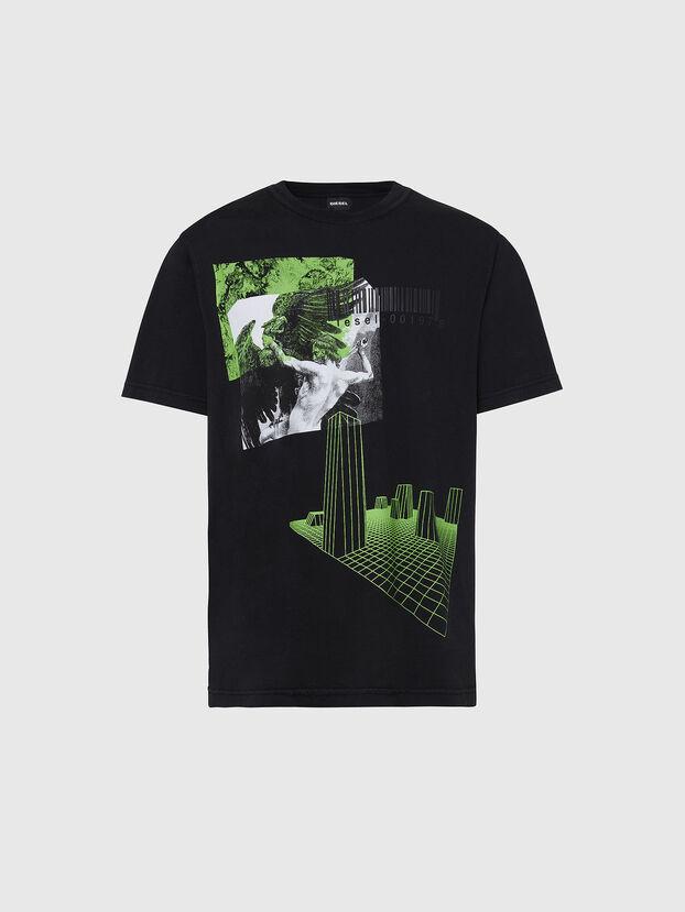 T-JUBIND-SLITS, Schwarz - T-Shirts