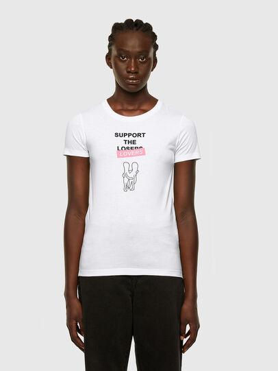 Diesel - T-SOAL-R1, Weiß - T-Shirts - Image 1