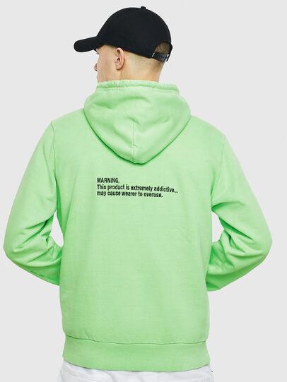 Diesel - S-GIRK-HOOD-FLUO, Neongrün - Sweatshirts - Image 3