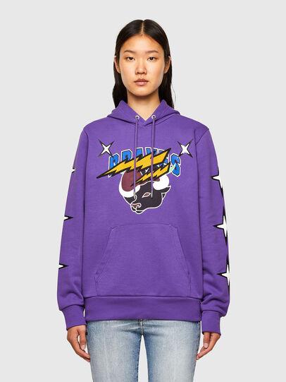 Diesel - CL-S-GIRK-HOOD-O1, Violett - Sweatshirts - Image 2