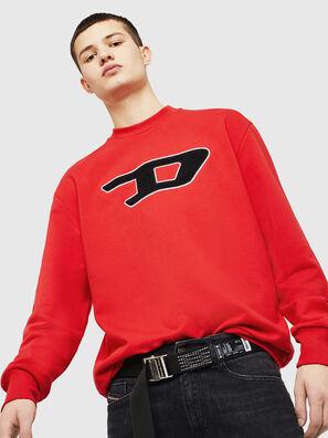 S-CREW-DIVISION-D, Feuerrot - Sweatshirts