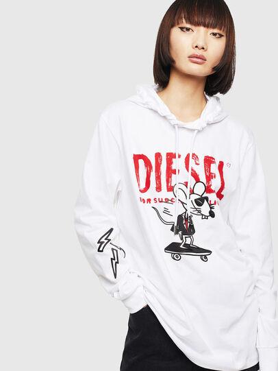 Diesel - CL-T-JUST-LS-HOOD, Weiß - T-Shirts - Image 2