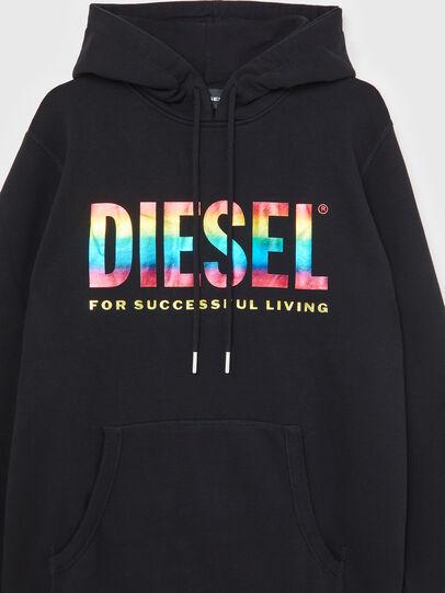 Diesel - S-GIR-HOOD-P, Schwarz - Sweatshirts - Image 3