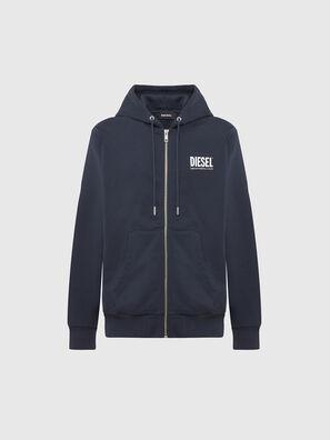 S-GIRK-HOOD-ZIP-LOGO, Dunkelblau - Sweatshirts