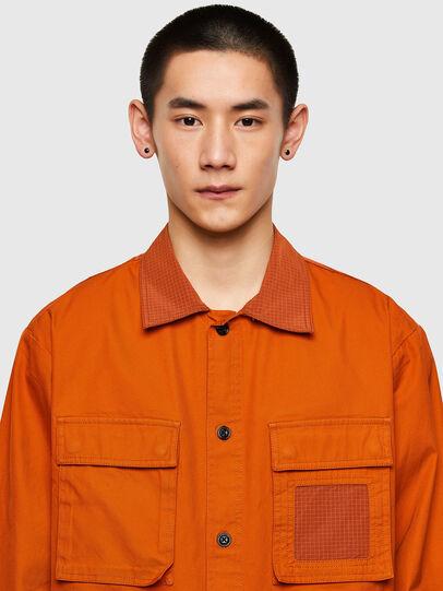 Diesel - S-GUNN-LS, Orange - Hemden - Image 3