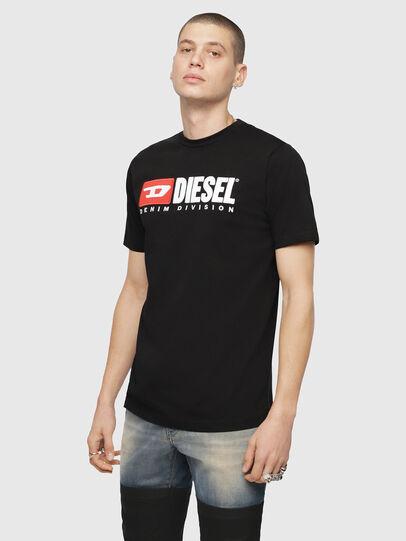 Diesel - T-JUST-DIVISION, Schwarz - T-Shirts - Image 1