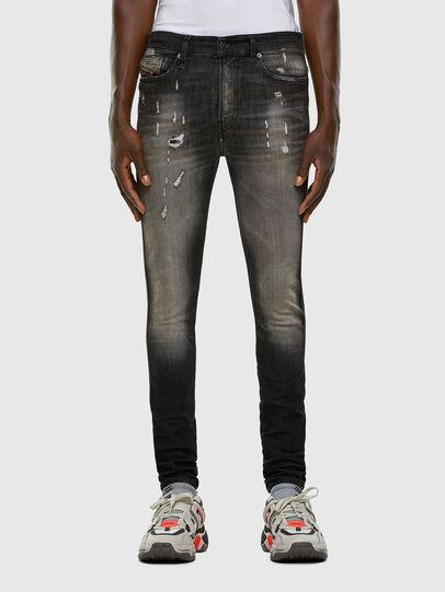Diesel - D-Reeft JoggJeans 009FX, Schwarz/Dunkelgrau - Jeans - Image 1