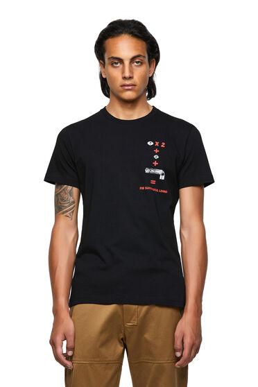 Green Label T-Shirt mit Gleichungsprint