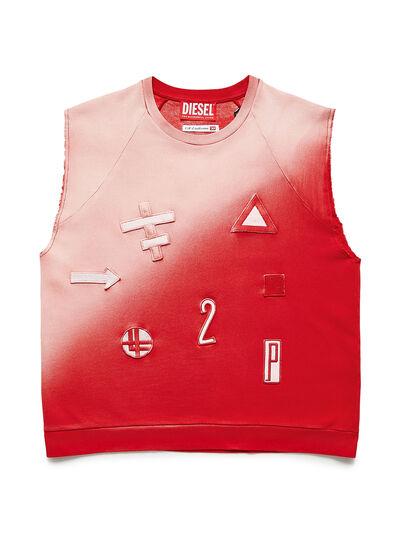 Diesel - GR02-T303, Rot/Weiß - T-Shirts - Image 1