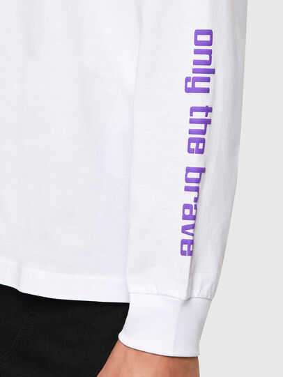 Diesel - T-JUST-LS-N64, Weiß - T-Shirts - Image 5