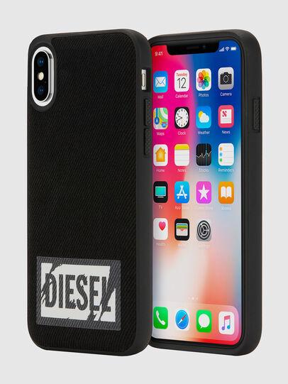 Diesel - BLACK DENIM IPHONE X CASE, Schwarz - Schutzhüllen - Image 1