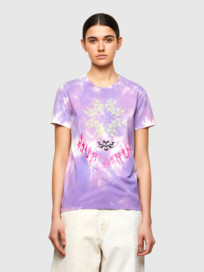 Diesel - T-SILY-A12, Lila - T-Shirts - Image 1