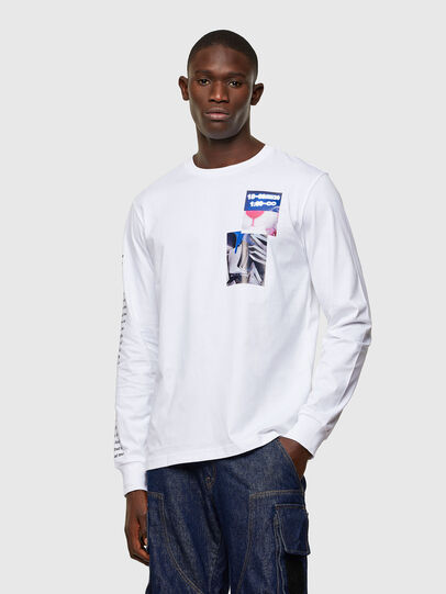 Diesel - T-JUST-LS-A10, Weiß - T-Shirts - Image 1