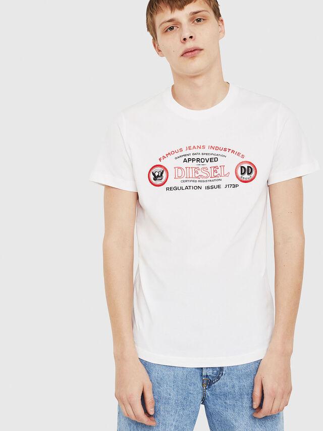 Diesel - T-DIEGO-C4, Weiß - T-Shirts - Image 1
