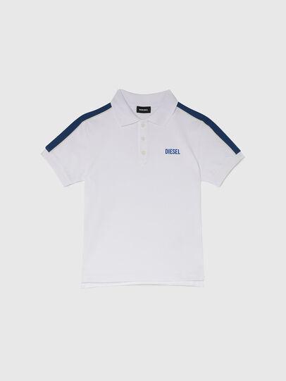 Diesel - TRALFYS1, Weiss/Blau - T-Shirts und Tops - Image 1