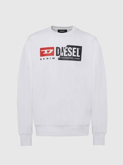 Diesel - S-GIRK-CUTY, Weiß - Sweatshirts - Image 1