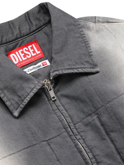 Diesel - GR02-J301, Grau/Weiß - Denim jacken - Image 3