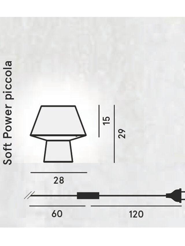 SOFT POWER PICCOLA, Schwarz