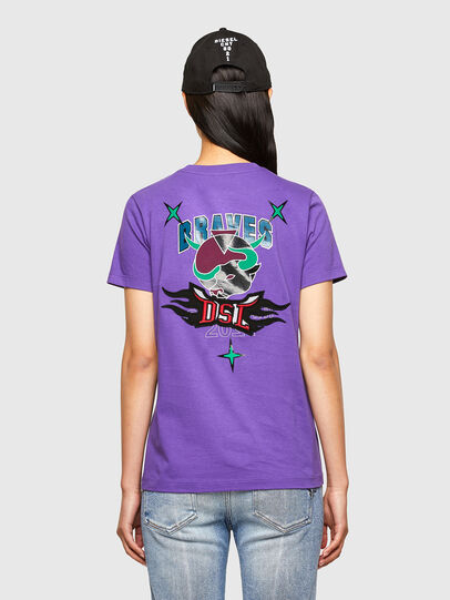 Diesel - CL-T-SILY-O, Violett - T-Shirts - Image 2