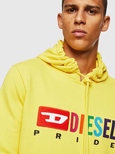 Diesel - S-GIR-HOOD, Gelb - Sweatshirts - Image 3