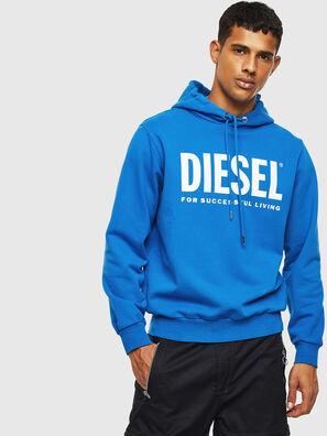 S-GIR-HOOD-DIVISION-, Hellblau - Sweatshirts