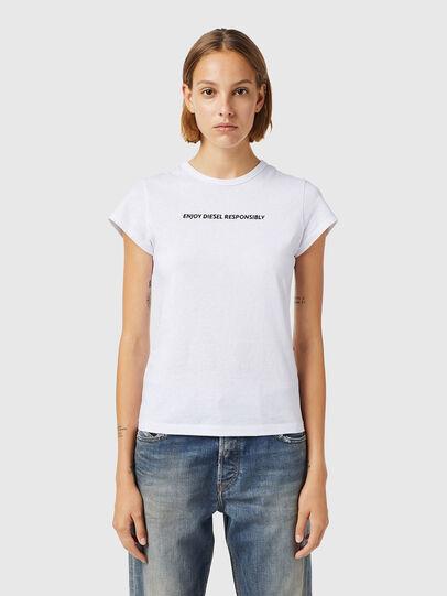 Diesel - T-SLICUP-B3, Weiß - T-Shirts - Image 1