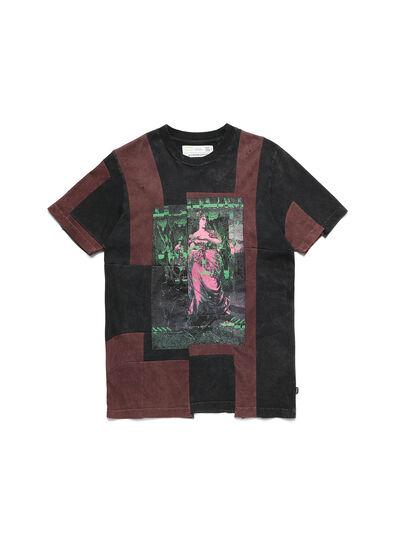 Diesel - D-FRANK&STEIN, Rot/Schwarz - T-Shirts - Image 1