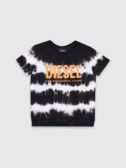 Diesel - TAREZB-R, Schwarz/Weiss - T-Shirts und Tops - Image 1