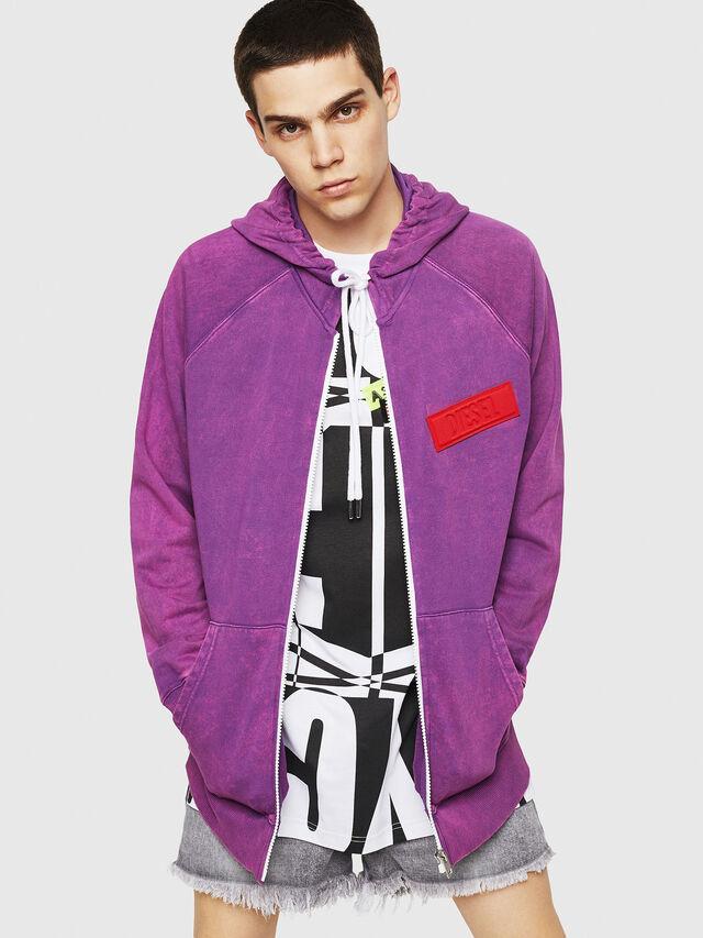 Diesel - S-GIM-HOOD-ZIP, Violett - Sweatshirts - Image 1