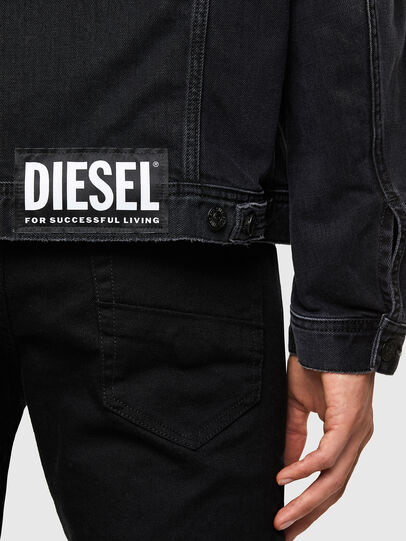 Diesel - NHILL-SP4, Schwarz - Denim jacken - Image 5