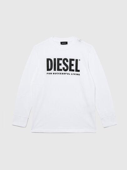 Diesel - TJUSTLOGO ML, Weiß - T-Shirts und Tops - Image 1