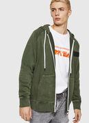 S-GIM-HOOD-ZIP, Dunkelgrün - Sweatshirts