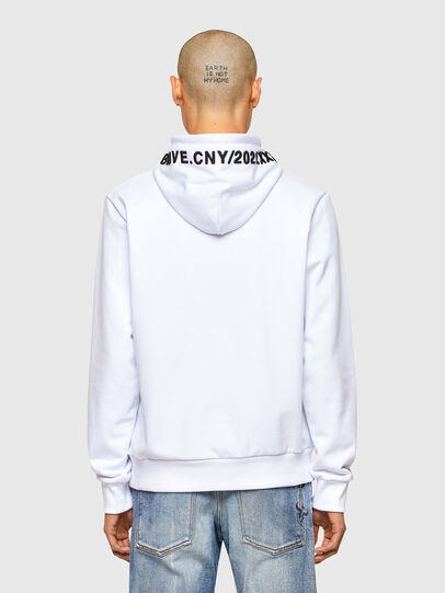 Diesel - CL-S-GIRK-HOOD-O, Weiß - Sweatshirts - Image 3