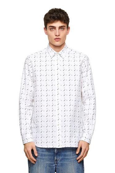 Shirt aus bedruckter Baumwoll-Popeline