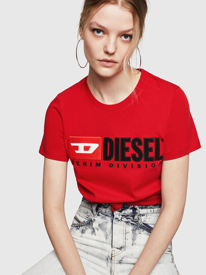 Diesel - T-SILY-DIVISION, Feuerrot - T-Shirts - Image 4