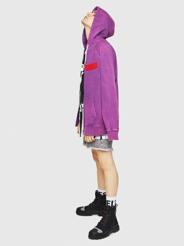 Diesel - S-GIM-HOOD-ZIP, Violett - Sweatshirts - Image 5
