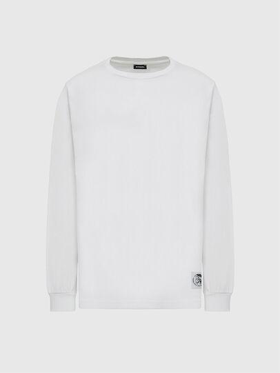 Diesel - T-JUST-LS-MOHI, Weiß - T-Shirts - Image 1