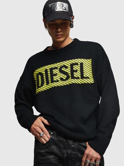 Diesel - K-LOGOX-C, Schwarz - Strickwaren - Image 1