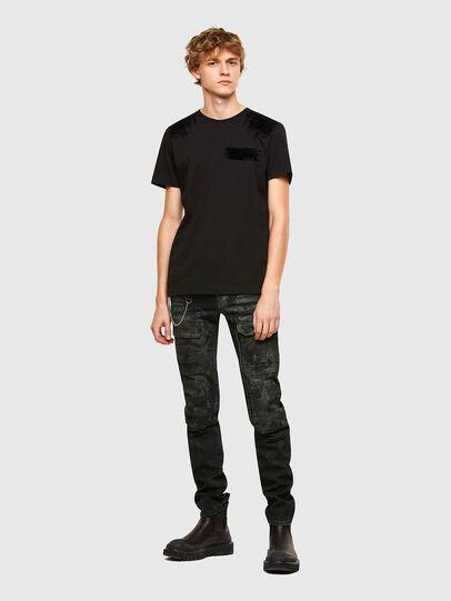 Diesel - T-IEGO-A, Schwarz - T-Shirts - Image 4