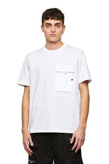 T-Shirt aus Supima-Baumwolle im Paneldesign