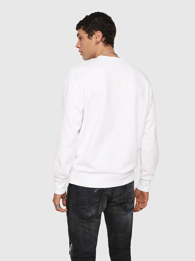 Diesel - CL-SNOR, Weiß - Sweatshirts - Image 3