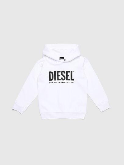 Diesel - SDIVISION-LOGO OVER, Weiß - Sweatshirts - Image 1
