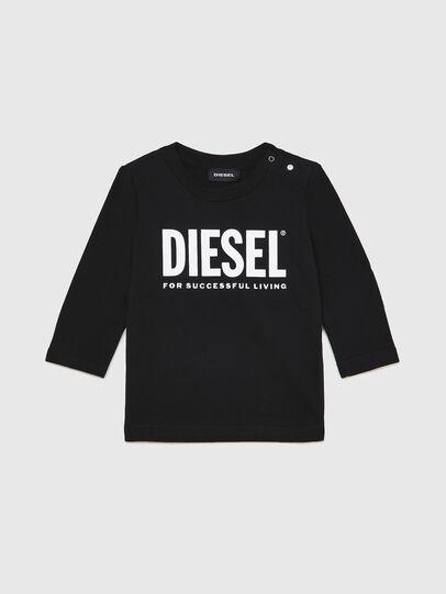 Diesel - TJUSTLOGOB ML, Schwarz - T-Shirts und Tops - Image 1