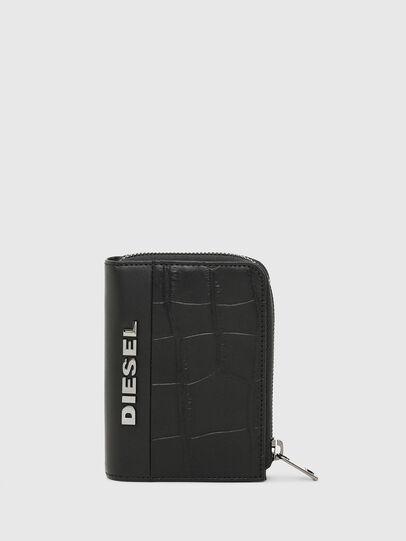 Diesel - L-12 ZIP, Schwarz - Portemonnaies Zip-Around - Image 1