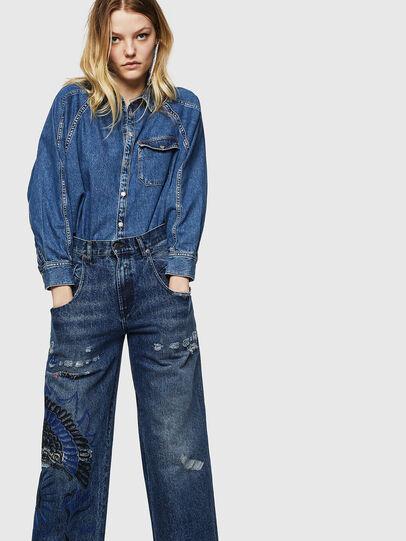 Diesel - Widee 0092Z, Mittelblau - Jeans - Image 3