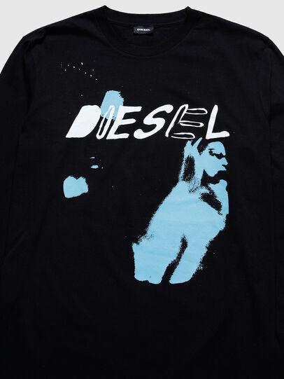 Diesel - US-T-JUST-LS, Schwarz - T-Shirts - Image 3