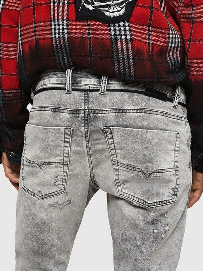 Diesel - Krooley JoggJeans 0091H, Hellgrau - Jeans - Image 5