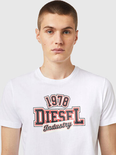 Diesel - T-DIEGOS-K26, Weiss/Rot - T-Shirts - Image 3